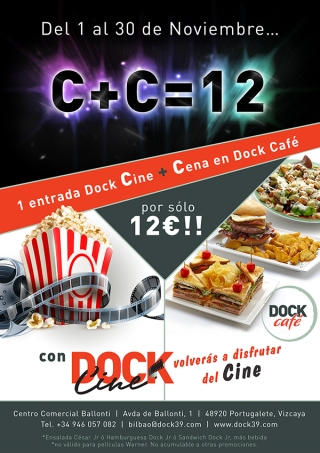 Cine+Cena=12€ con Dock Ballonti - Promo finalizada -